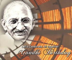 Celebrating Gandhi Birthday